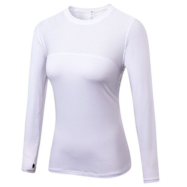 54ec94a1 Autumn Women Compression Fitness Gym T Shirt Training Running Tops Tee Quick  Dry | Trade Me