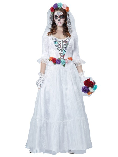 af009579bbb1 La Novia Muerta Deluxe Ghost Bride Day Of The Dead Mexican Womens Costume |  Trade Me