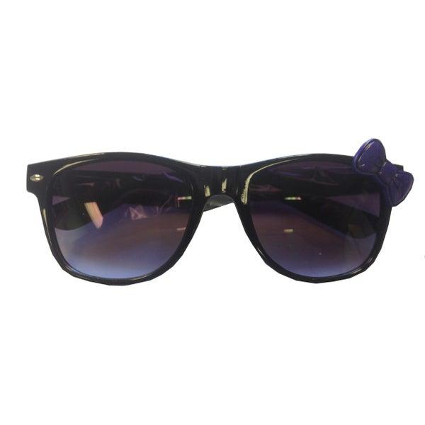 f6702e777 Black Sunglasses With Purple Bow Hello Kitty Nerd Accessory Adult | Trade Me