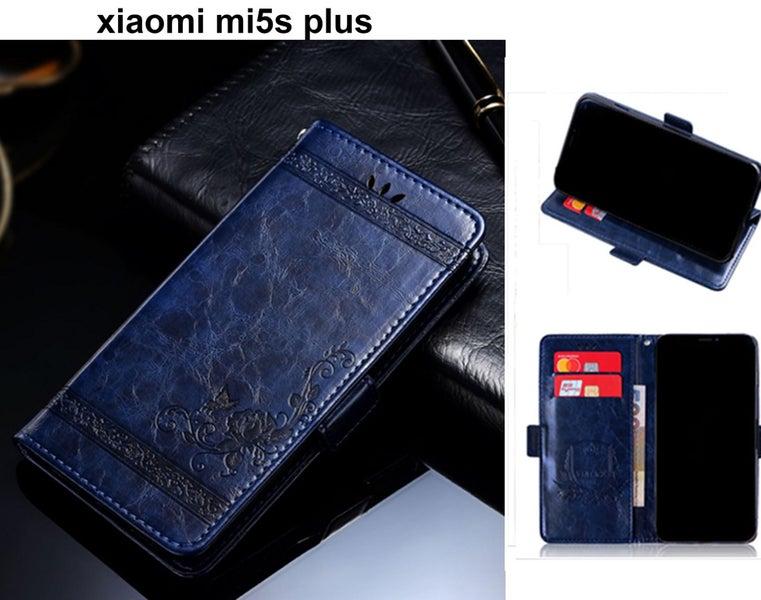 huge discount bbb59 e833b xiaomi mi5s plus retro leather wallet case slim cow hide finish navy