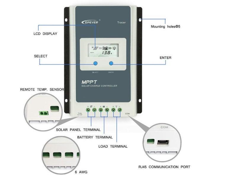 solar controller mppt new Tracer3210AN 30A 12V/24V MPPT Solar Charge  Controller