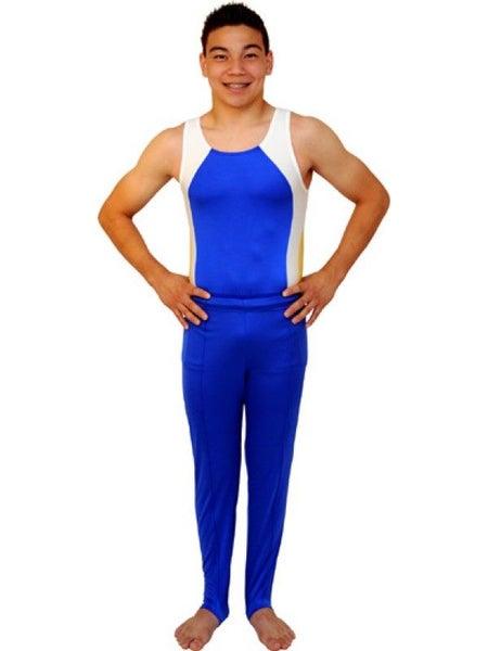 69b748dd2 Men   Boys Strength Gymnastics Leotard - Blue - By Snowflake Designs ...