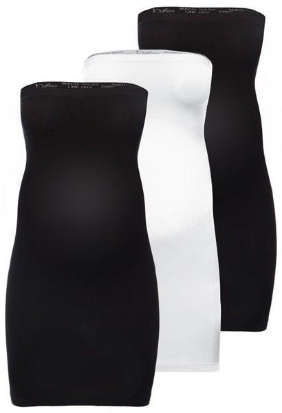5d0ddf9cfc026 Maternity Strapless Slip Dress - 3 Pack