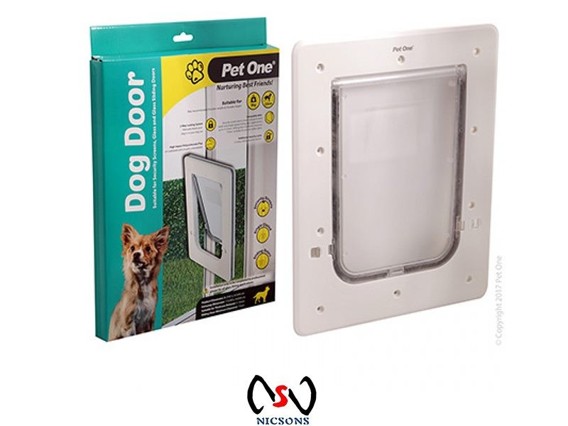 Pet One Dog Door For Security Screensglass Glass Sliding Doors S