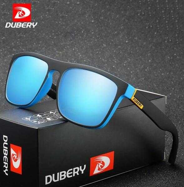 225c8c8bc9 Polarized Dubery Mens Retro Designer Sunglasses - Blue lense Blue   Black  frame