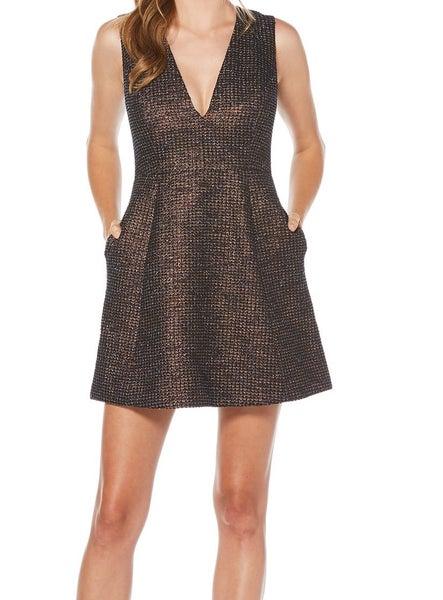 a1211a921ccd6 Laundry by Shelli Segal NEW Black Blue Women's US 6 Metallic Dress ...