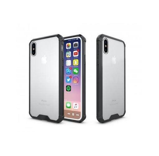 huge discount 0678c 2a19c Ultimo Apple iPhone X Clear Hard Back Case w/ Black Bumper