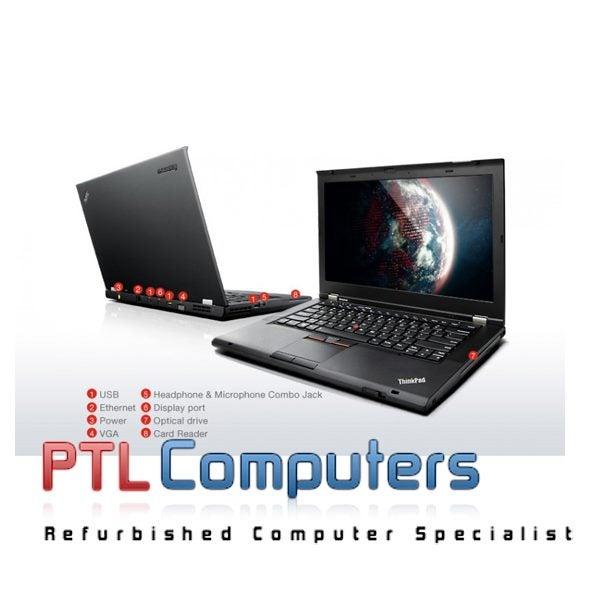 Lenovo ThinkPad T430s Core i5 2 6Ghz 8GB 240GB SSD DVDRW W10P WEBCAM WIFI