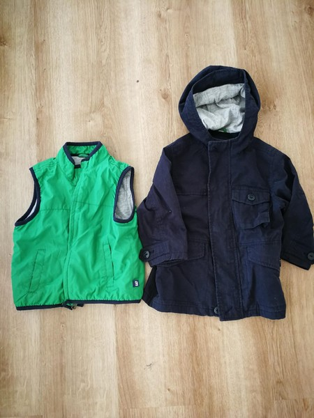 8a6886a41d2f6 Baby GAP Dark Blue Jacket and Green Vest