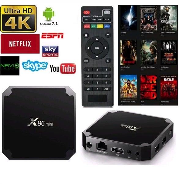 Multi Media X96 mini android tv box Kodi V17 3 Android 7 1 1GB + 8GB 2 4G  Wifi