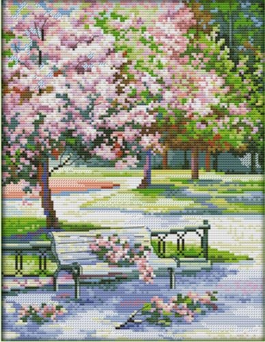 Cross Stitch Embroidery Kit Spring in the Park