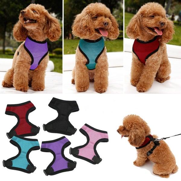 Pet Harness Dog Vest Mesh Braces Clothes XS S M L XL BLACK PINK PURPLE BLUE  RED