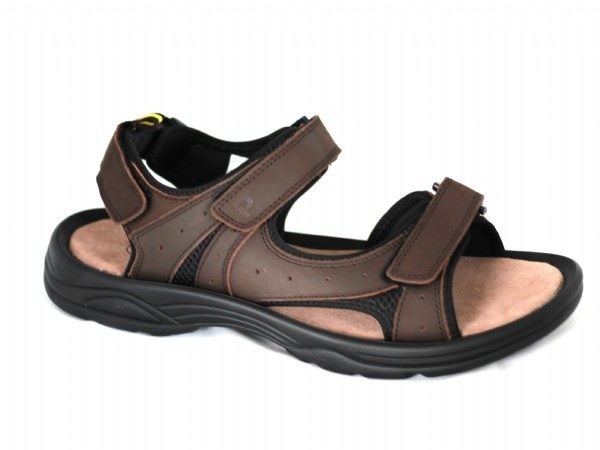 de38518cb30f Size 14 wide fit Mens leather brown sandals by Propet