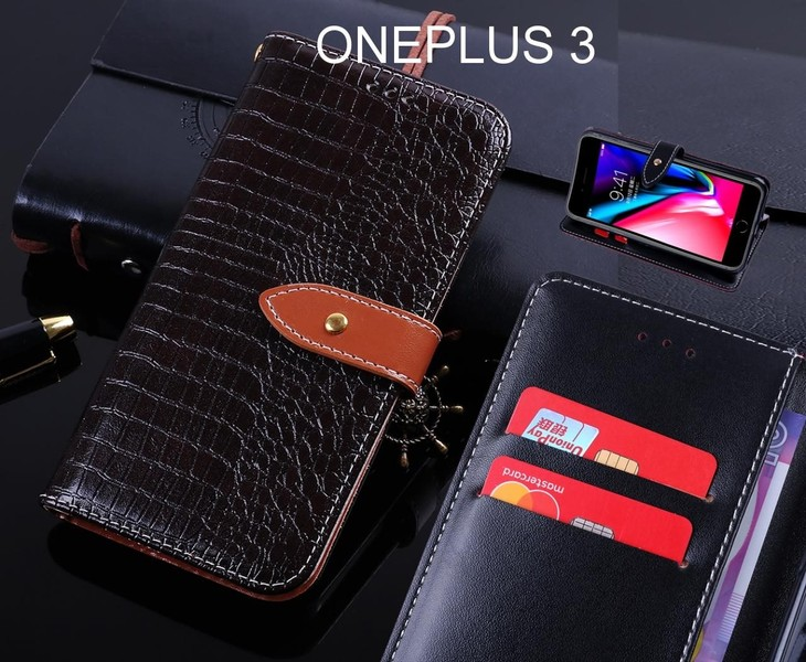 wholesale dealer 6bfa8 e042c ONEPLUS 3 case leather wallet case croco style | Trade Me