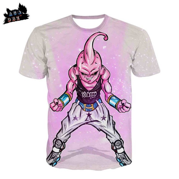 pink 10 deep magic man Buu DBZ Dragon Ball z anime t shirt