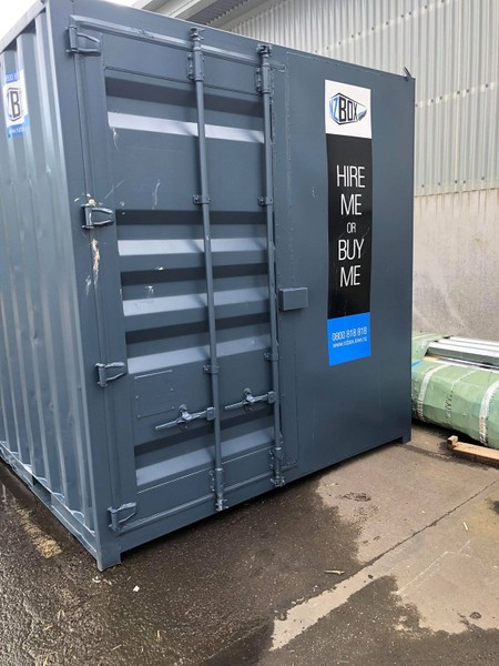 Shipping Container 10ft - SINGLE DOOR - GREY