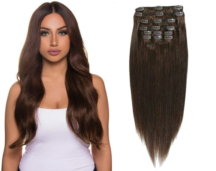 Easy Clip In Hair Extensions Full Head 24 Trade Me