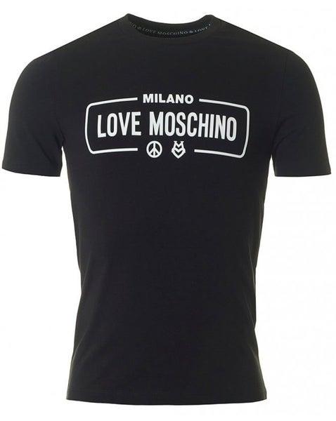 6e21421d17 Love Moschino Rubber Logo Slim T-shirt | Trade Me