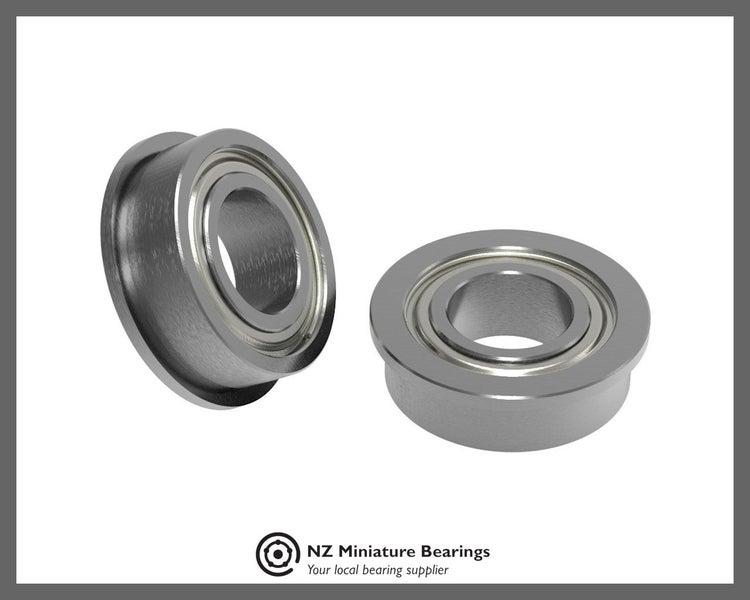 Flanged Bearings ID 8mm 9mm 10mm 12mm 15mm 20mm 25mm 30mm, NZ Miniature  Bearing
