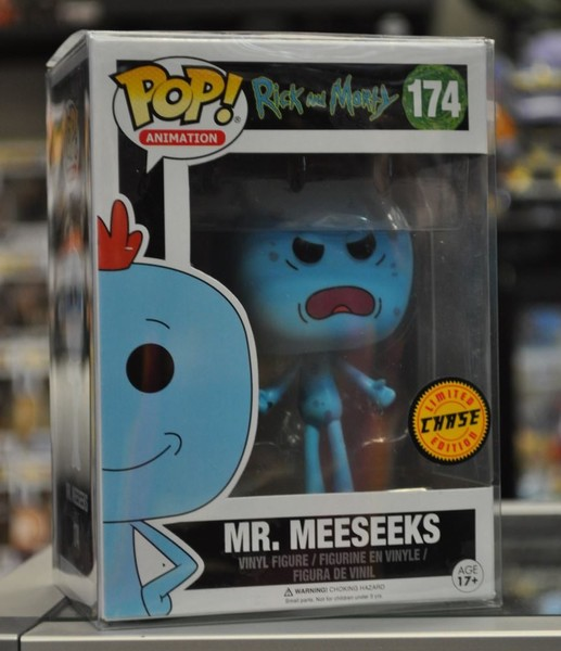 b974e891d18 Rick and Morty - Mr Meeseeks with Gun Chase Pop! Vinyl Figure