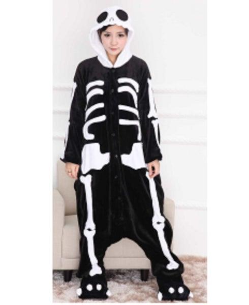 halloween animal onesies adult skeleton kigurumi jumpsuit costume medium