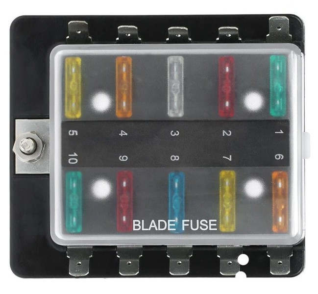 Fuse Box Blade Style 10 Way or 4 Way with or without Blade ...  Way Fuse Box on