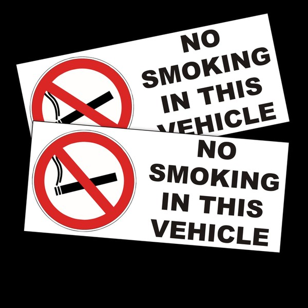 4x No Smoking In This Vehicle Cab Taxi PSV In/Out Vinyl