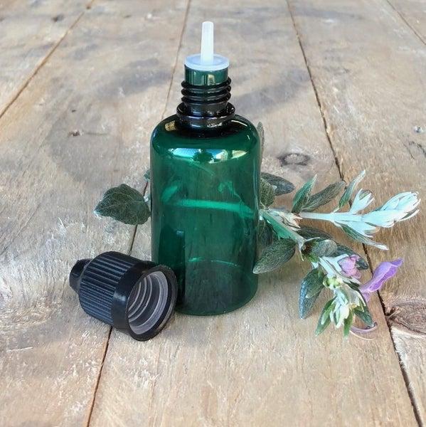 Reusable Plastic Squeeze Dropper Bottle Green 30ml Child Proof Cap x 5  bottles