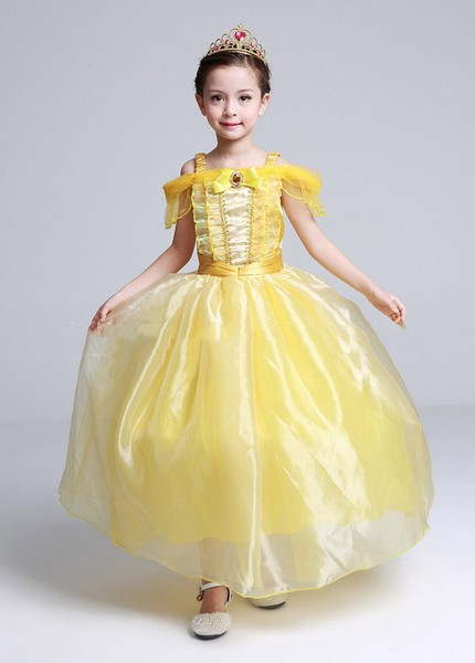 784d7529d3ae8 Fancy Girls Gift Princess Belle Dress up Fairy Costume Cosplay Party