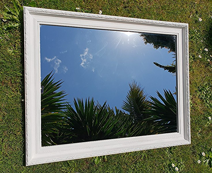 Beautifully Detailed Antique Mirror Solid Wood Trade Me