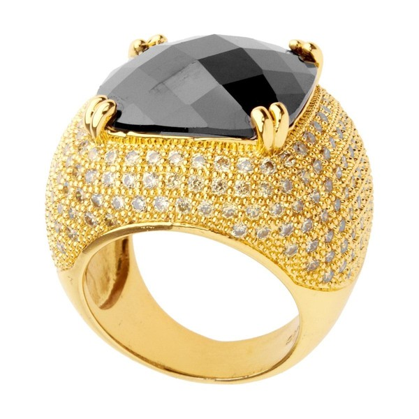 Iced Out Bling Micro Pave Ring Rose Cut Gold Trade Me