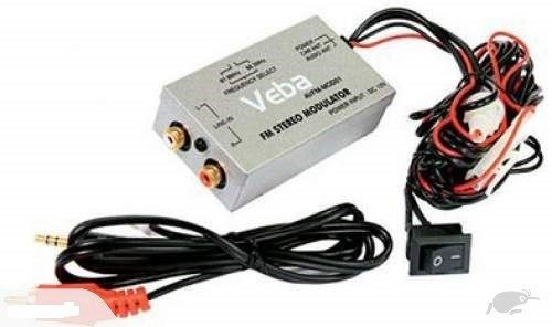 In-line FM Stereo Modulator AUX input Installation for any