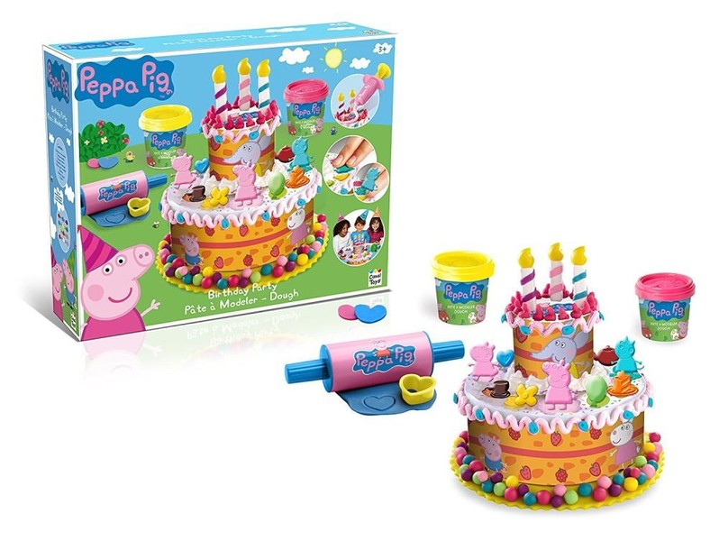 Peppa Pig Birthday Cake Dough Play Doh Activity Set Brand New
