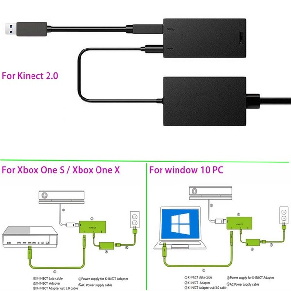 For Kinect 2 0 Sensor USB3 0 Adapter For Xbox One S Xbox One X Windows PC  Useful