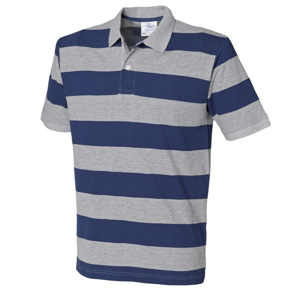 d41251167ee Front Row Mens Striped Pique Polo Shirt | Trade Me