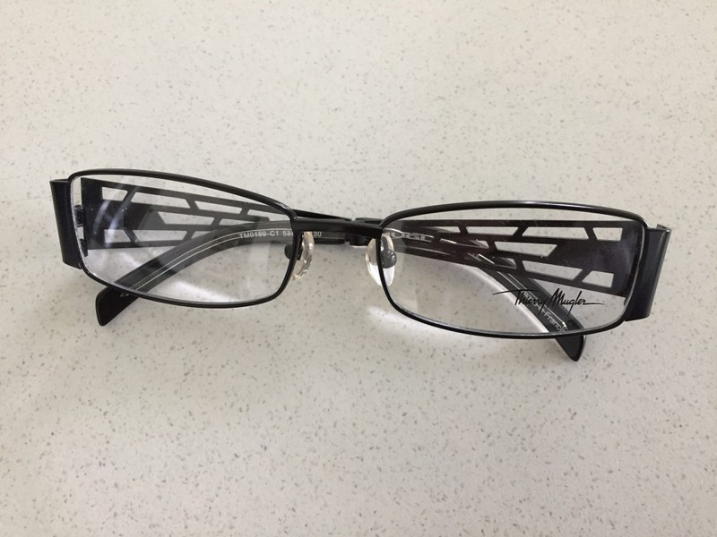 dd76dd401c0a Glasses Frame - Thierry Mugler Black Gunmetal | Trade Me