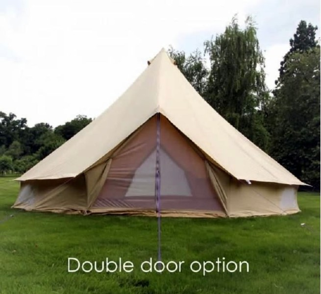 **NEW 2-DOOR** 4m Bell Tent Cotton Canvas for Family Gl&ing **FULL WARRANTY**   Trade Me & NEW 2-DOOR** 4m Bell Tent Cotton Canvas for Family Glamping **FULL ...