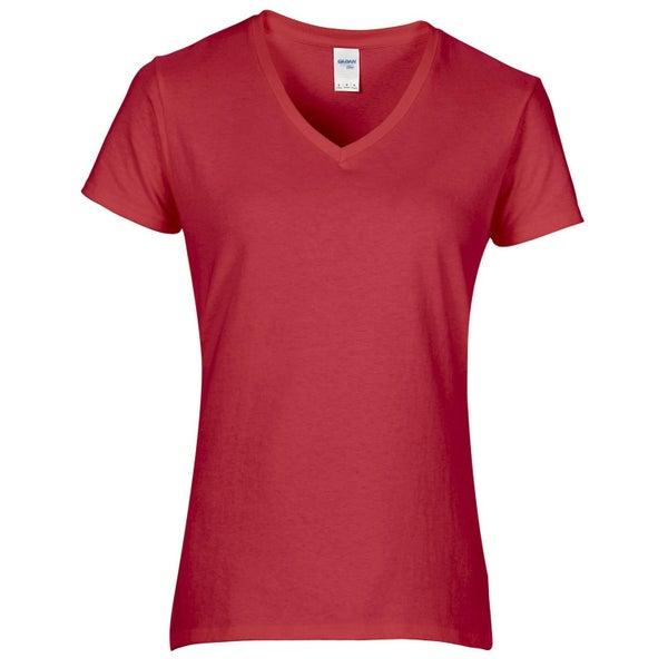 Gildan Womens Ladies Premium Cotton V Neck T Shirt