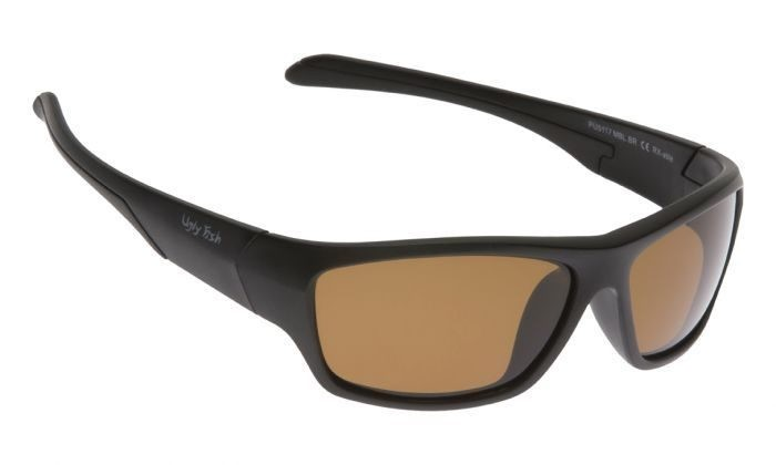 cee5f63fc7a Ugly Fish Matte Black Frame Brown Polarised Sunglasses