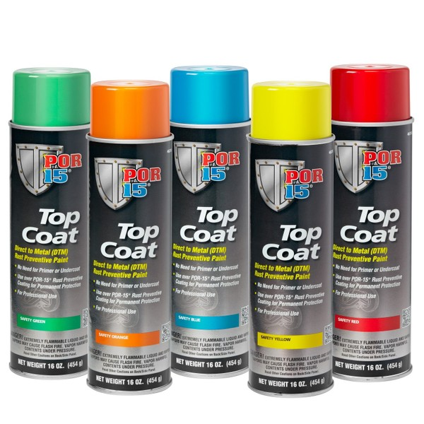 Por 15 Top Coat Safety Colours Dtm Aerosol 5 To Pick From Trade Me