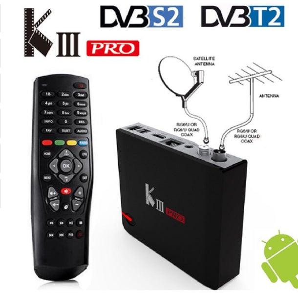 KODI 18 4 MECOOL KIII PRO, TERRESTRIAL AND SATELLITE ANDROID TV BOX 7 1 OS