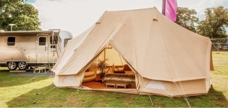 timeless design d5848 912ef **SAVE $200** 6 x 4m Emperor Bell Tent, Cotton Canvas - Spacious Family  Glamping