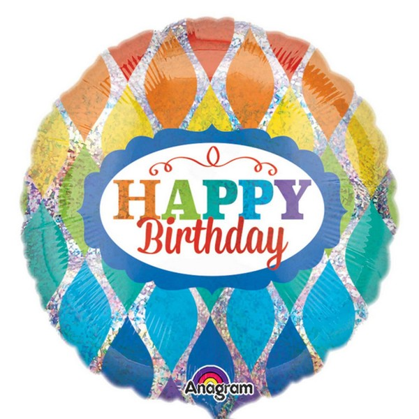 Anagram 18 Inch Rainbow Birthday Holographic
