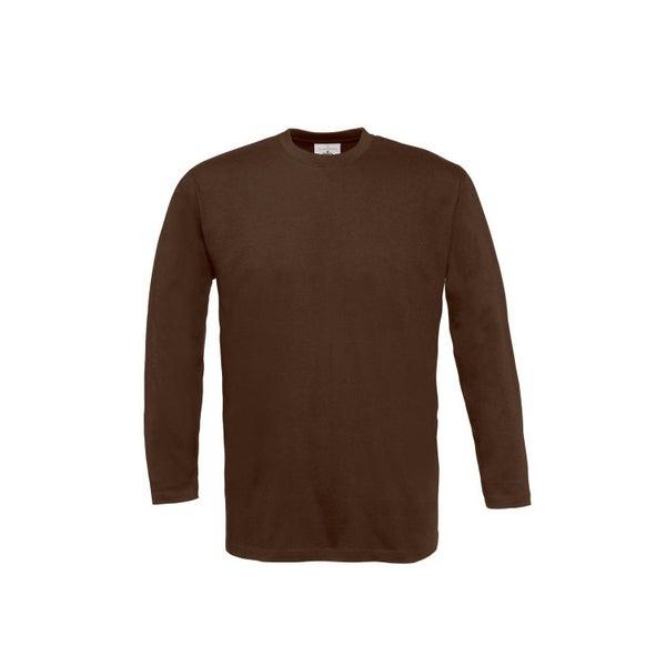 81dc2827 B&C Mens Exact Plain Long Sleeve Crew Neck T-Shirt | Trade Me