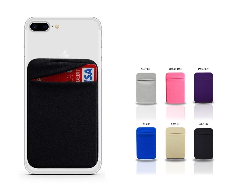 online store a457a 0ffe2 Cell Phone Stick on Wallet Card Holder
