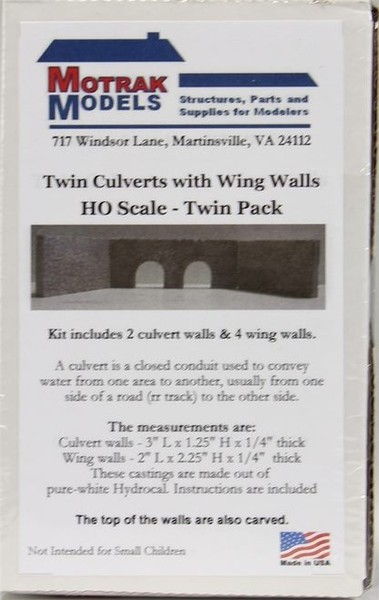 HO, TWIN CULVERTS WITH WING WALLS TWIN PACK | Trade Me