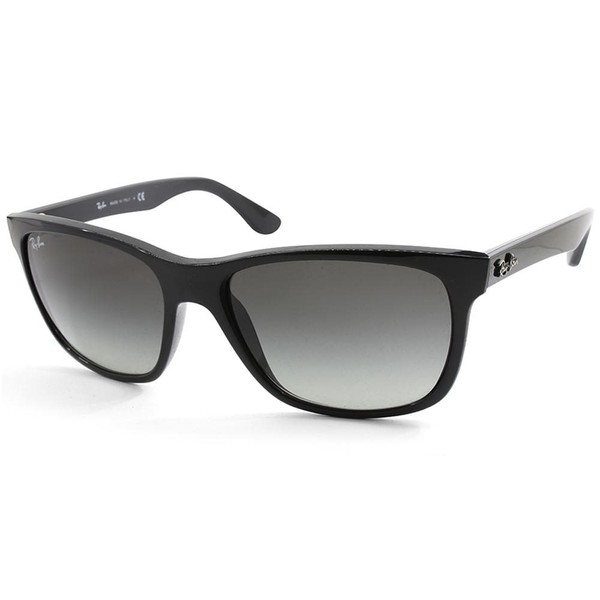 556c32b8ba7 Ray-Ban Highstreet RB4181 601 71 Polished Black Grey Gradient Unisex  Sunglasses