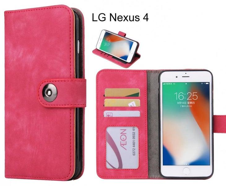 separation shoes d4974 6fd36 LG Nexus 4 case retro leather wallet case
