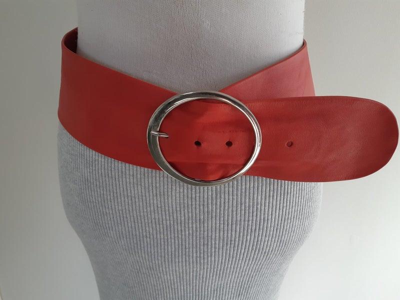 5e0eef94288e2 BLACK   CO Red Leather Belt