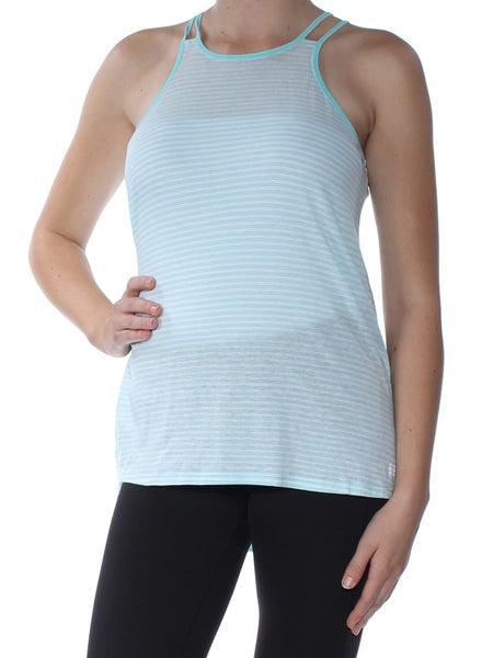 18b2c2f25 TOMMY HILFIGER Womens Aqua Striped Spaghetti Strap T-Shirt Active Wear Top  | Trade Me